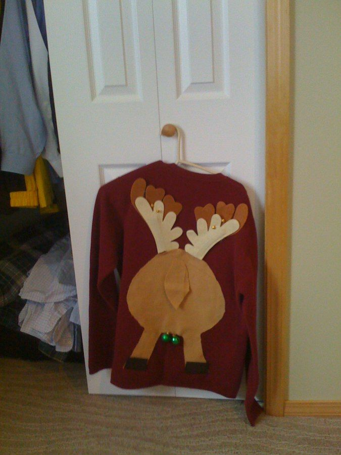Ugly sweater, next time we go to an ugly Xmas sweater party- Scott wears this