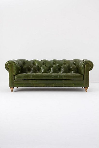 LOVE the color!  Atelier Chesterfield in bottle greenGreen Couch, Leather Couch, Leather Sofas, Bottle Green, Green Leather, Living Room, Furniture, Chesterfield Sofas, Atelier Chesterfield