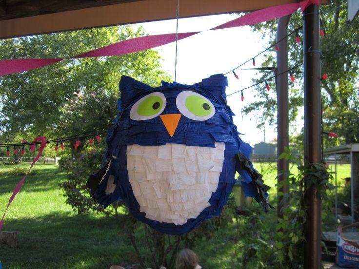 how to make an owl pinata