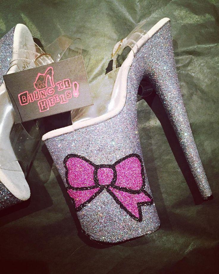 Little Bow Peep Custom Made Glitter heels. Bling. Hand made, Melbourne, pleasers, Dance.