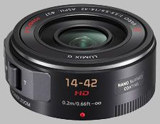 image of Panasonic 14-42mm f/3.5-5.6 ASPH POWER OIS LUMIX G X VARIO PZ  The Panasonic Lumix G X Vario PZ 14-42mm ƒ/3.5-5.6 ASPH Power OIS is a dramatic redesign and re-think of the standard kit lens. Released with the Panasonic GF3X, the lens replaces its manual focus and manual zoom rings with power-assisted alternatives, making it function more like a point-and-shoot camera. With the 2x crop factor offered by four-thirds camera bodies, the lens offers an equivalent field of view of…