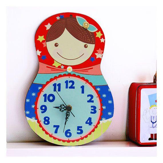 Kids Wall Clock - Nursery Clock - Nursery Wall Clock - Childrens Wall Clock - Kids Clock - Childrens Clock - Girls Clock - Kids Wall Art