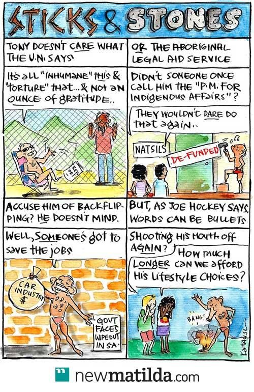 TONY ABBOTT THE INTERNATIONAL VILLAGE IDIOT And the most horrifying thing is they are all like him at THE LNP (LEANERS NATIONAL PARTY) Cartoon Thanks as always to the amazing Fiona Katauskas.