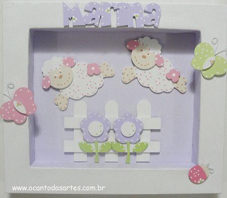 Cerquinha - Flores - Ovelhinhas - Borboletas e Joaninha