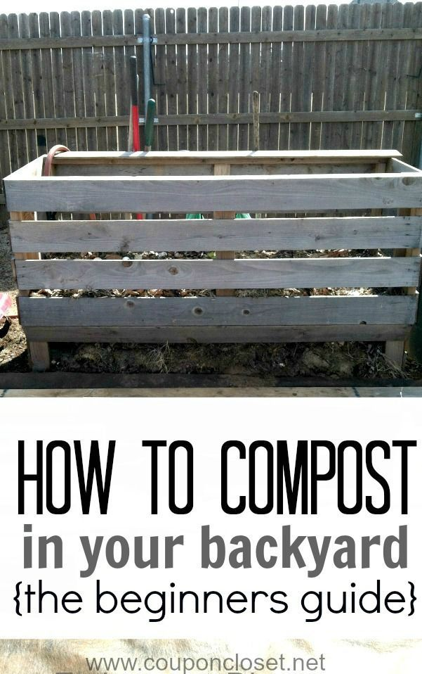 Here is the beginners guide to composting. Learn how to compost anywhere - even in small backyard. It will save you money and it is much easier than you might think.