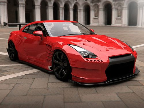 แต่งมาเต็ม จัดมาสุดเลย คันนี้ Nissan GTR modified wide body kit.  Source: jay-vonski  #nissan #gtr #r35 #modified #wide