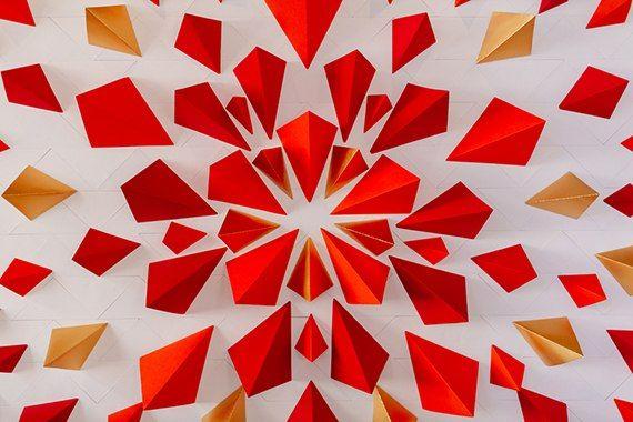geometric figures wedding