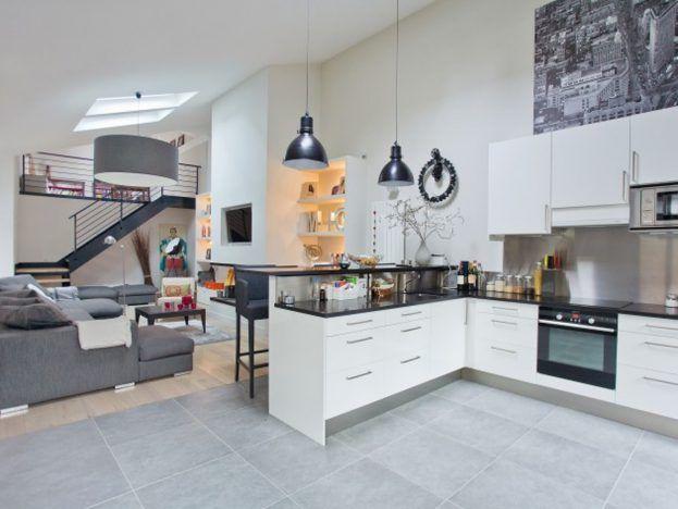 7 best ilot de cuisine images on Pinterest Cuisine design, Butcher - salon sejour cuisine ouverte