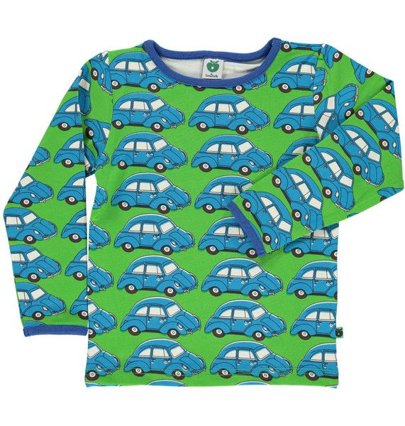 Smafolk Green and Blue Cars Long Sleeved T-shirt