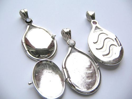 One Solid SILVER Locket Pendant H2O Just Add Water ...