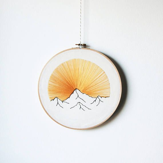 Sierra Nevada sunrise embroidery