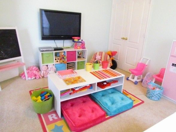 Childrens Play Table With Storage - Foter