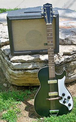 Vintage Sears Silvertone guitar with amp model 1481 - Just like my hubby's first guitar and amp purchased in Sioux City IA, in November of 1963