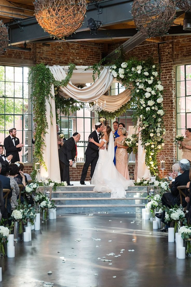 The Foundry At Puritan Mill Wedding Suzanne Reinhard Events Legendary Events Vue Photograp Wedding Chuppah Jewish Wedding Chuppah Wedding Chuppah Flowers