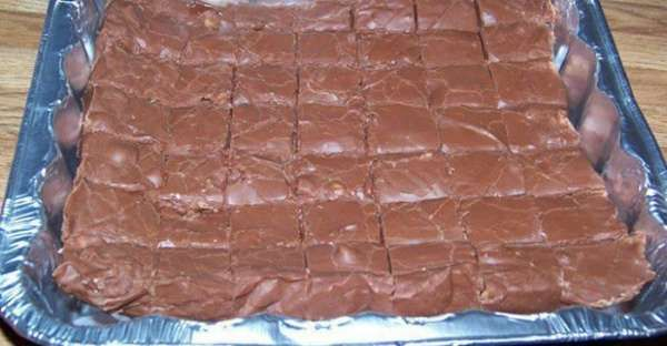 "Easiest Fudge Recipe in the World 1 can Eagle brand condensed milk ( 14 oz. ) 1½ bags of chocolate chips ( 11.5 oz bags) any flavor you wish 1 cup chopped walnuts ( optional ) Toss all ingredients in to a mircowave bowl. Melt till creamy. Pour into a 8×8"" baking dish. Cool for 2 hours cut and serve."