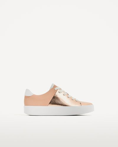 LAMINATED CHUNKY SOLE PLIMSOLLS-Sneakers-SHOES-WOMAN | ZARA United States