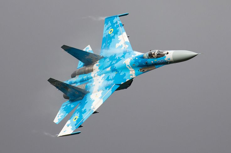 Ukrainian Air Force made a welcome return to the Air Tattoo with a pair of Sukhoi Su-27 Flankers, the single-seat example of which flew in a graceful display of noise and power, but without the famous Pugachev Cobra that punctuated displays of this aircraft during the 1990s. Ukraine continues to use the Su-27 in front-line operations, but the type has been locally upgraded to deal with obsolescence issues. The aircraft were supported by an Ilyushin Il-76 airlifter. Photo:  Tony Osborne/AW&ST