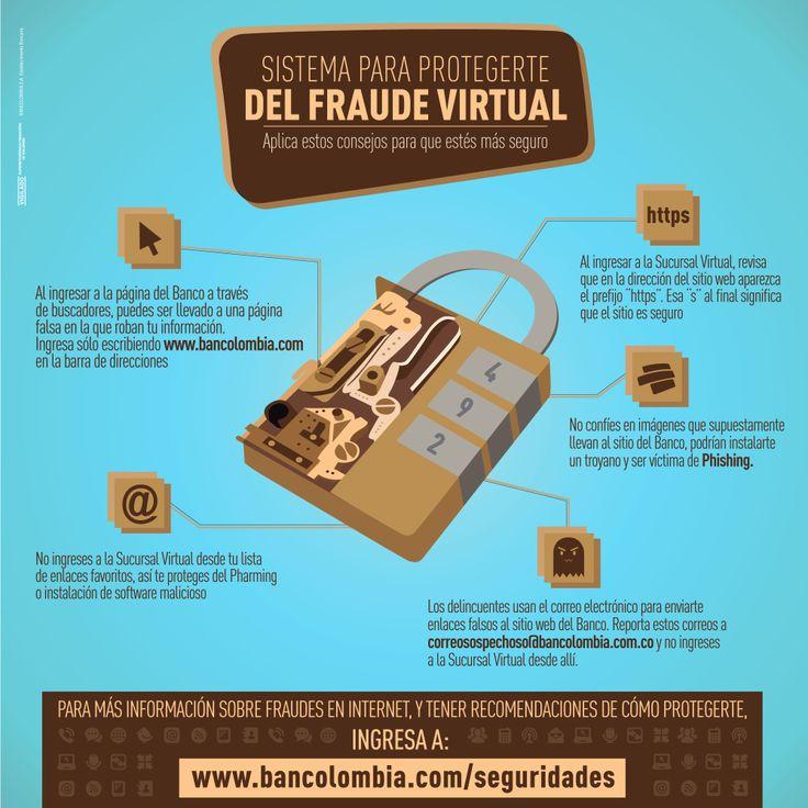 Encuentra más información sobre fraudes en Internet y cómo protegerte en www.bancolombia.com/seguridades