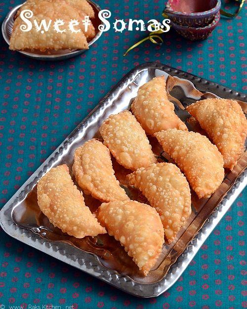 SWEET SOMAS RECIPE (SOMASI) | DIWALI SWEETS RECIPES ~ Rak's Kitchen