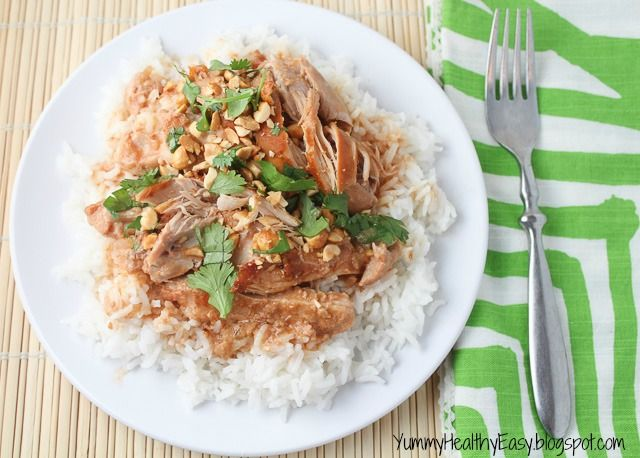 Yummy Healthy Easy: Easy Slow Cooker Thai Chicken