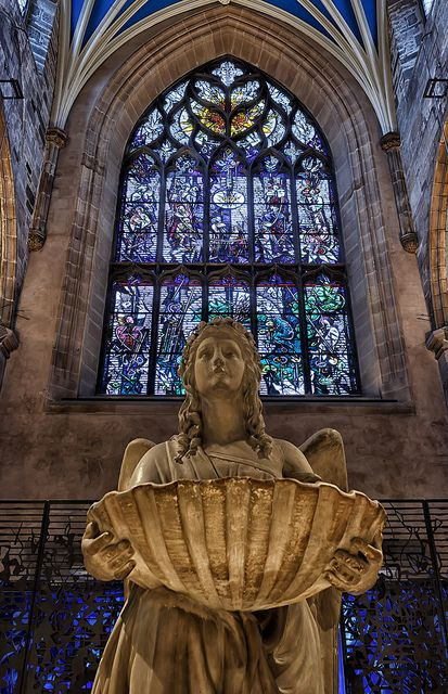 St Giles Cathedral Edinburgh Scotland City Country