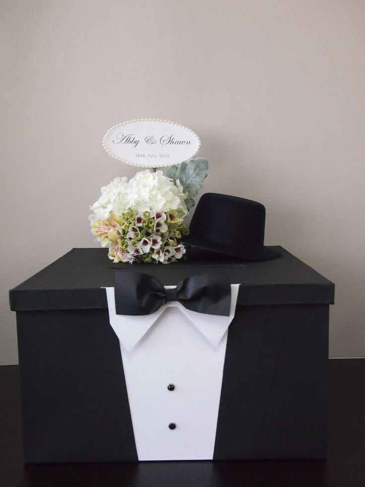 Pegeo Wedding Money & Gift Cards Box Set for Groom