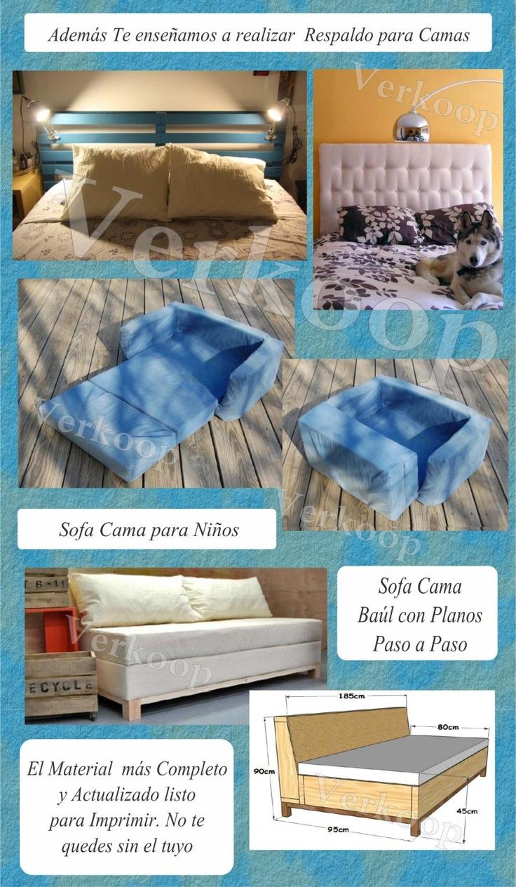 Curso Muebles Con Palets Puffs Sofas Camas Cojines Fundas ...