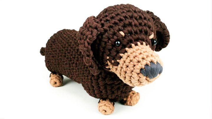 Crochet a dachshund dog   Knitting & Craft   Yours