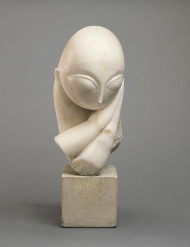 Marble Blocks For Sculpting : Constantin brancusi portrait of mademoiselle pogany