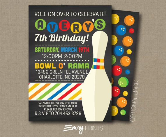 Best 20+ Bowling birthday invitations ideas on Pinterest Bowling - bowling invitation