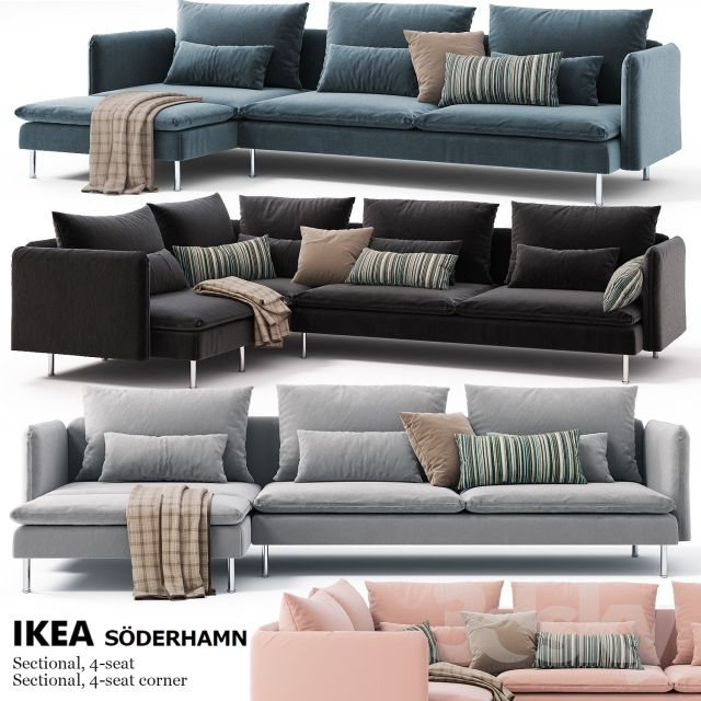 Corner sofas Ikea SODERHAMN Sectional, 4-seat, Sectional, 4-seat corner