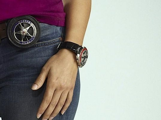 "Mercedes Masohn on ""The Finder"" ...what watch is that"