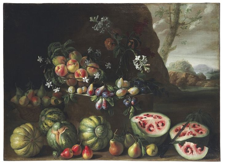 Giovanni Stanchi's painting from the 17th century shows how much watermelon has changed through the centuries (so interesting!)
