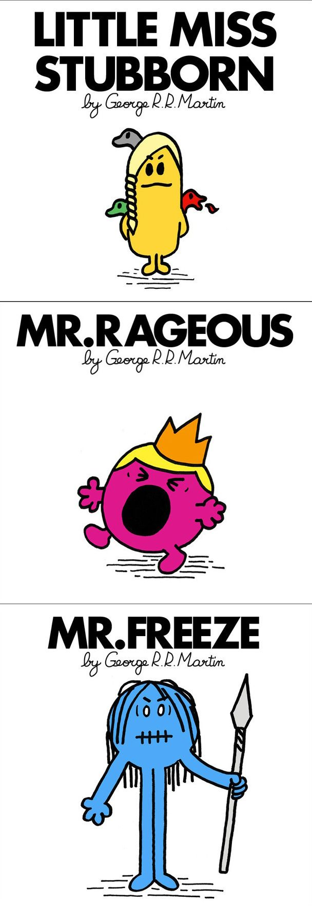 Which Game of Thrones/Mr. Men and Little Miss character is your favorite?