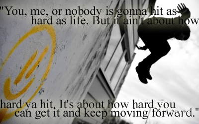 It doesn't matter how hard we get hit...