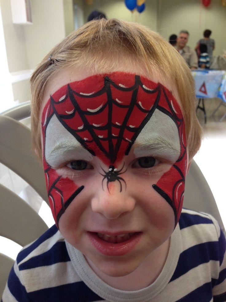 spiderman face paint www.childrenspartiesnyc.com