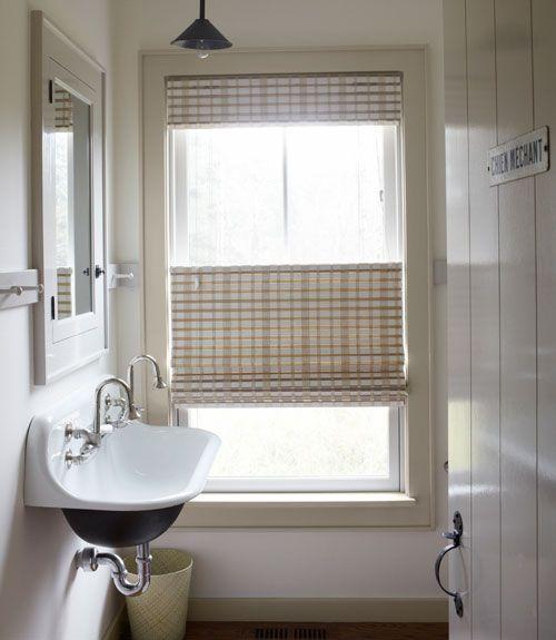 A Modern Country Getaway. Modern Country BathroomsCottage BathroomsBungalow  BathroomBathroom ModernBathroom Window TreatmentsBathroom ...