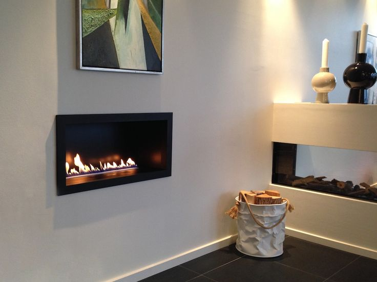 Prime Fire In Casing, Showroom Living Flames, Denmark. Ethanol  FireplaceFireplace ...