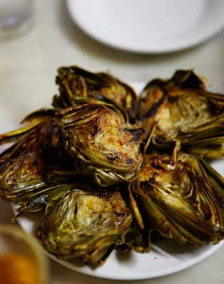 Roasted artichokes! Just perfect! Skip the sauce - they don't need it!