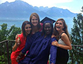 "term has ended at boarding schools in Switzerland. look at the ""examplary"" graduation at Surval Montreux - one of the best boarding schools in the world! http://www.surval.ch/boarding-school/news/graduation-2014"