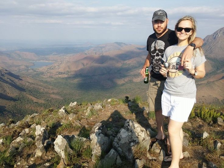 Beautiful view on the peak of the Drakensburg mountains at the Legalameetse Nature Reserve.