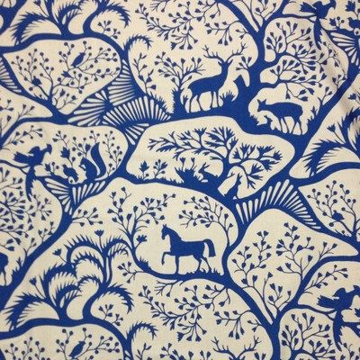 Thomas Paul for Duralee Fabric: Forest- Blue