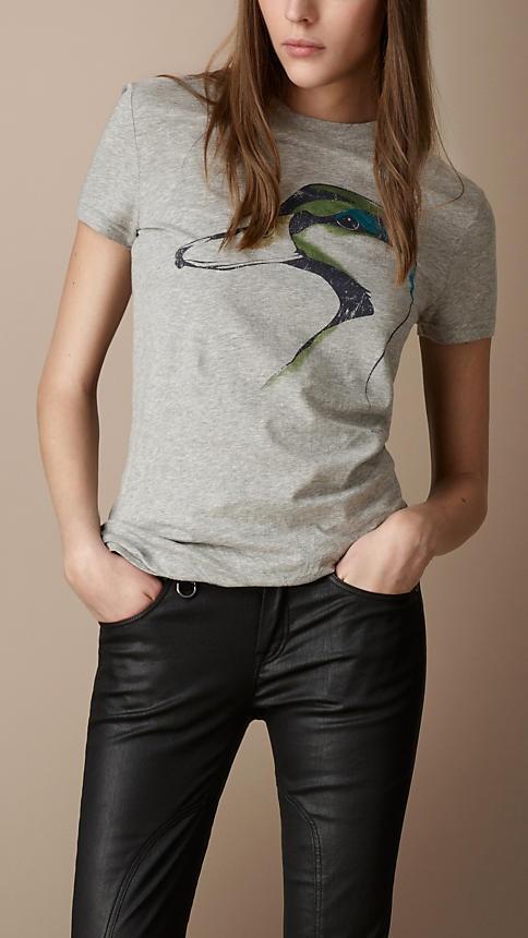 Burberry - mallard graphic tee shirt - $195