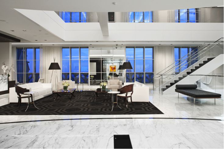 Tile of Spain products from Porcelanosa used in Coverings 2015 CID Award Winner for Sustainable Stone Design. Project: Alston & Bird LLP Atlanta Offices