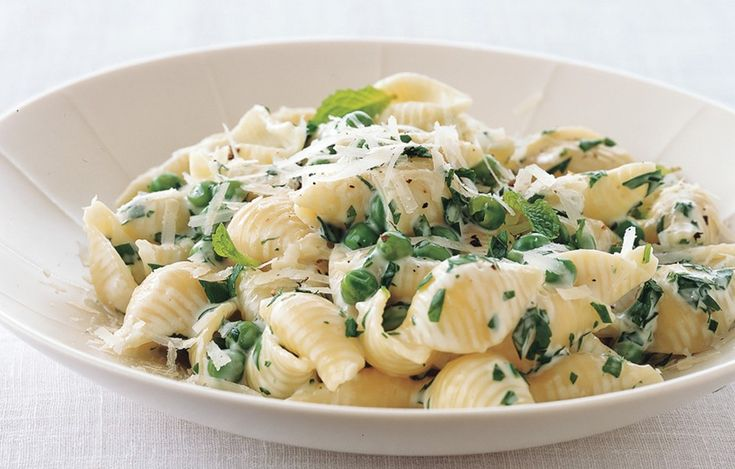Pasta with Peas, Cream, Parsley, and Mint - Bon Appétit, Sub basil ...