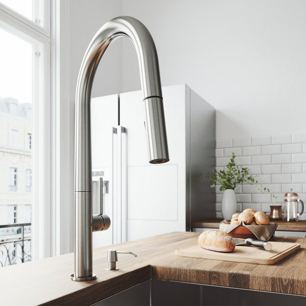 greenwich pull down single handle kitchen faucet in 2019 in the rh pinterest com