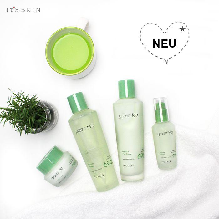 Entdecke die *Green Tea Watery Line* mit Grüntee-Extrakt von IT'S SKIN für Mischhaut, ölige Haut und zu Unreinheiten neigende Haut. https://www.seemyskin.de/hautpflege/ #seemyskin #itsskin #itsskinofficial #itsskindeutschland  #kbeauty #koreanischehautpflege #koreanischekosmetik #greentea #skincareroutine #beauty #asiatischekosmetik #asiatischehautpflege #10stepkoreanskincareroutine #10pflegeschritte #hautpflegeroutine #koreanskincare #koreanbeauty  #asianskincare #schönheit