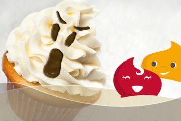 #Ricette #halloween #cupcake Casper #fantasma #party #festa #dolcetto #eridania