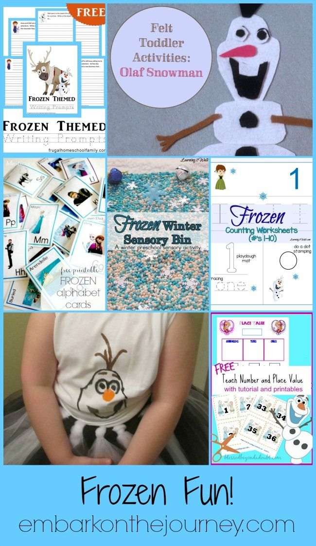 FREE Frozen Printable Learning Pack and Activities | Homeschool Giveaways
