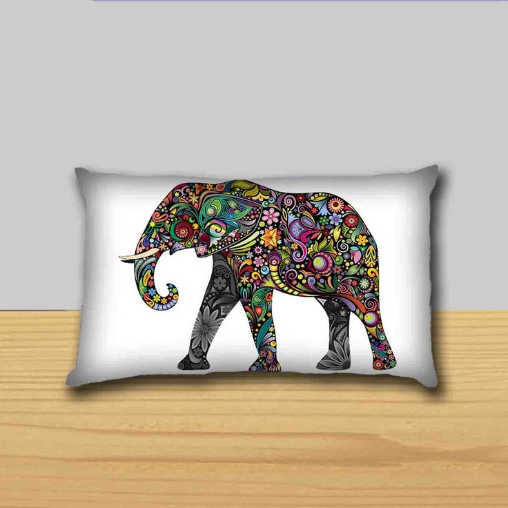 Elephant Pillow Cases 20''x36'' (Twin Sides) #Unbranded #AnimalPrint
